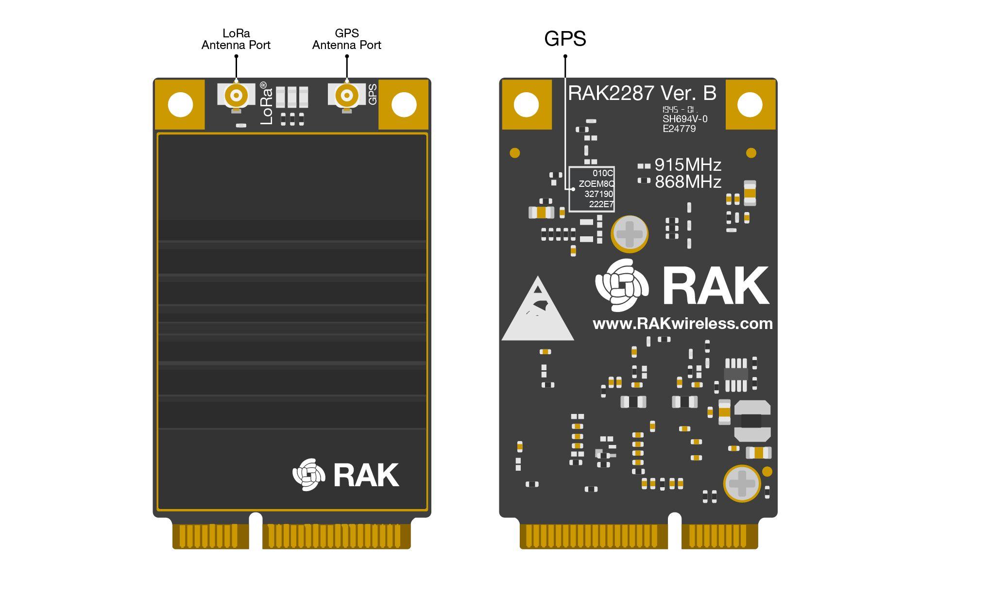 RAK2287 Board Overview