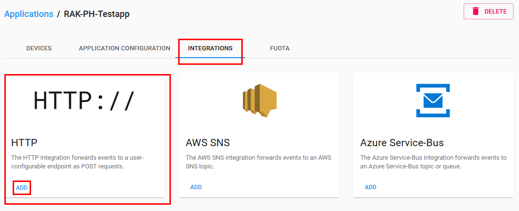 Chirpstack Application Integrations